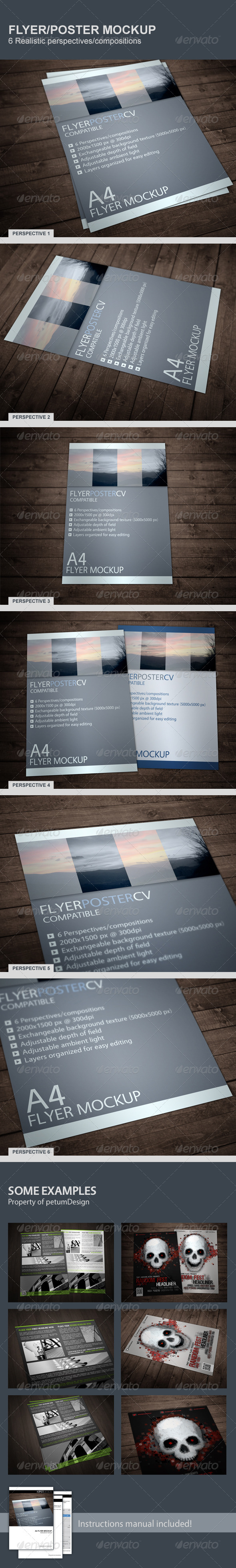 GraphicRiver Realistic Flyer Poster Mockup 4768859