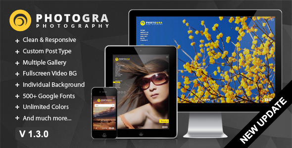 Photogra - Fullscreen Responsive WP Theme - Photography Creative