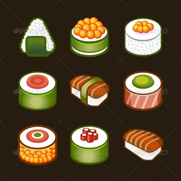 GraphicRiver Sushi Set Japan Cuisine 4768979