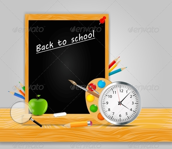 GraphicRiver Back to School Vector Background 4769086
