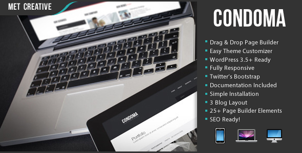 ThemeForest Condoma Multi-Purpose Elegant Business Theme 4761156