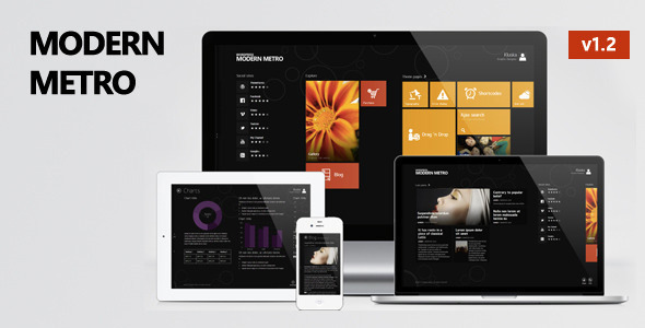 Modern Metro Responsive Wordpress Theme