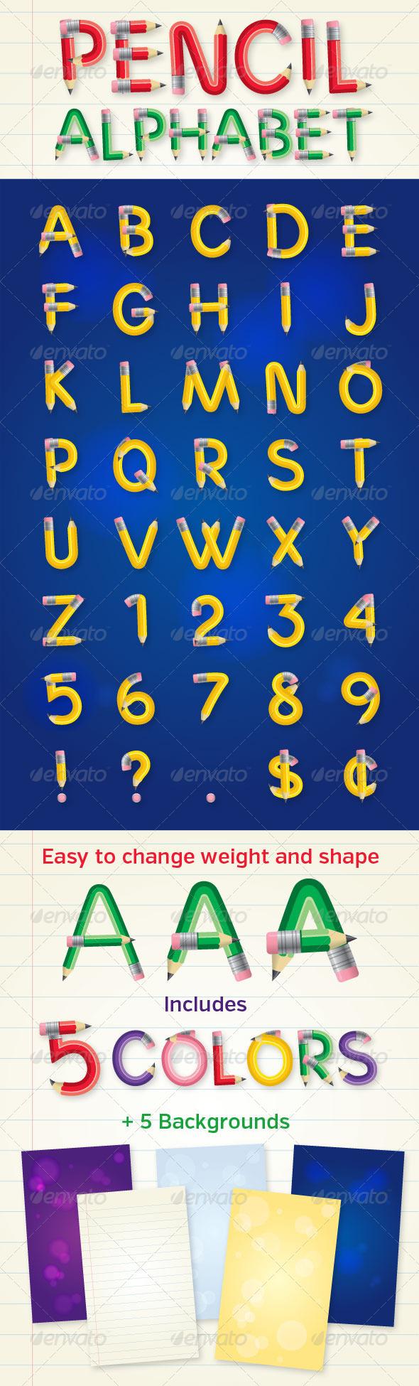 GraphicRiver Pencil Alphabet 4769213