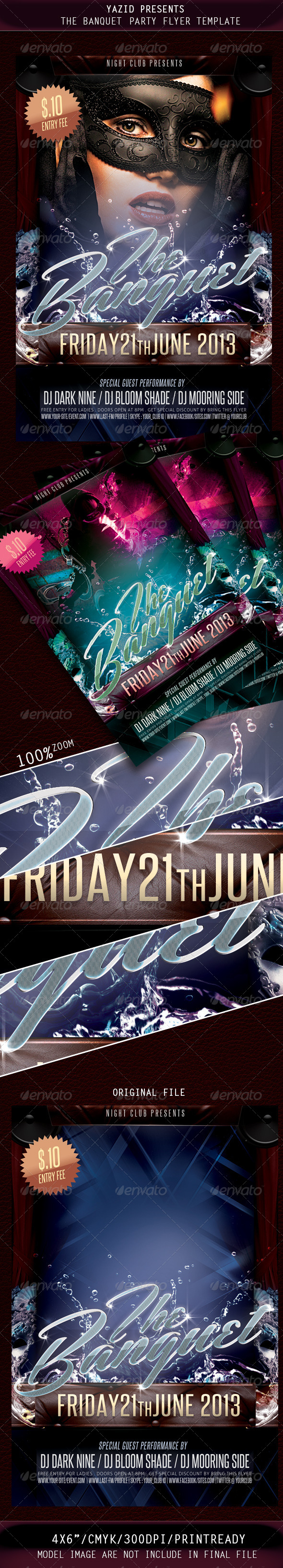 The Banquet Party Flyer Template - Clubs & Parties Events