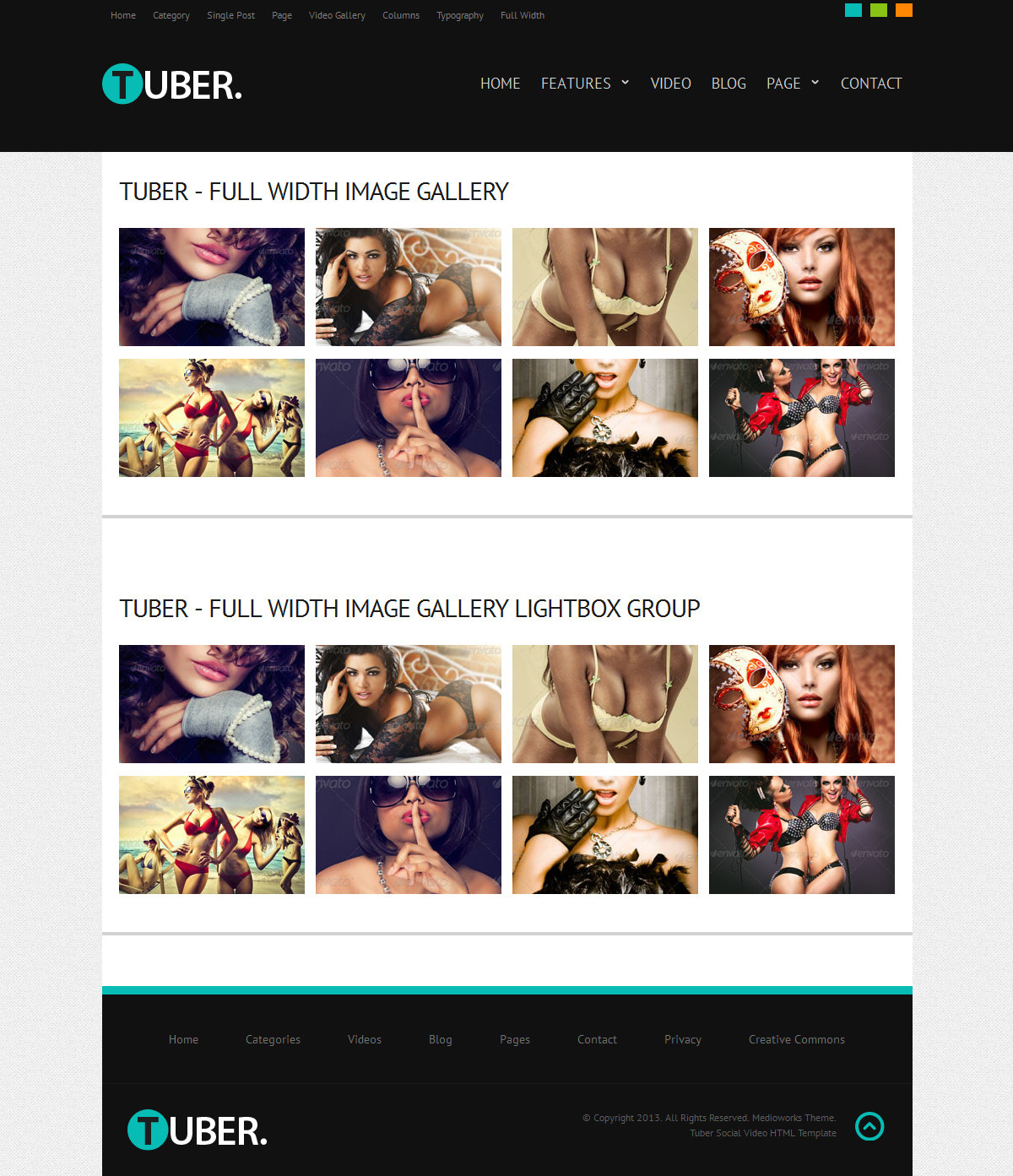 Tuber Social Video HTML Template - Tuber Social Video Responsive HTML5 Theme Gallery Layout Screenshot 4