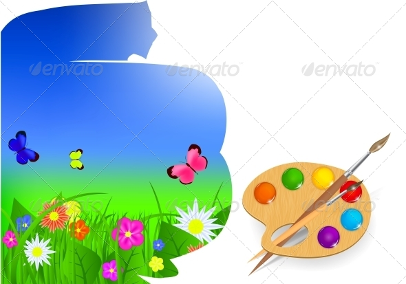 GraphicRiver Brush and Sky Paint Vector Illustration 4769408