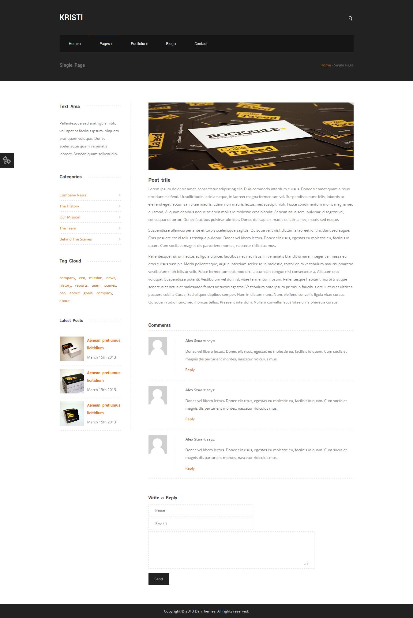 Kristi - Multipurpose Business Template