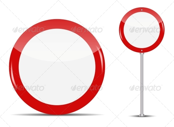 GraphicRiver Vector Blank Traffic Sign Isolated on White 4769460