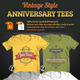 Vintage Style Anniversary Tees Bundle - GraphicRiver Item for Sale