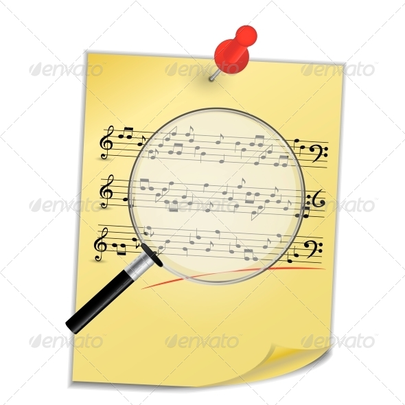 GraphicRiver Musical Notes Abstract Background Vector 4769462