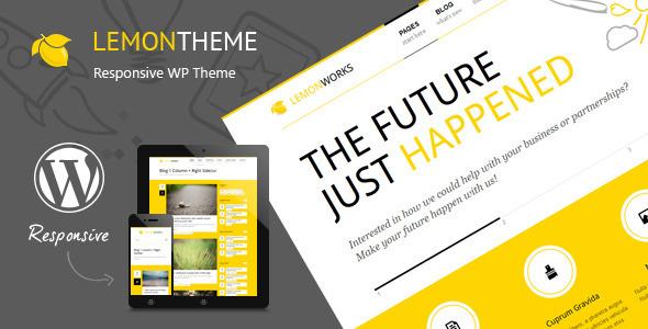 ThemeForest Lemon Responsive Portfolio WordPress Theme 4769467