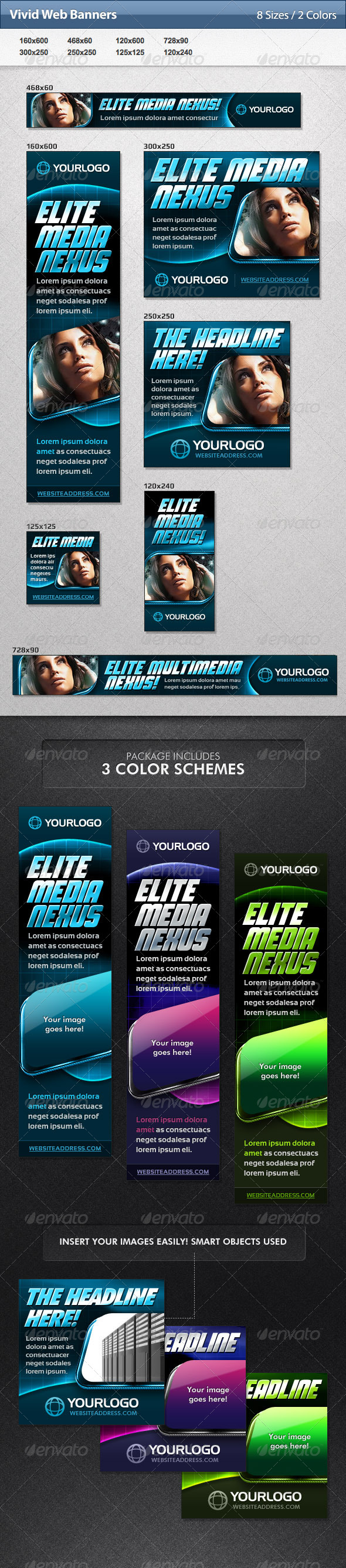 GraphicRiver Vivid Web Banners 4769473