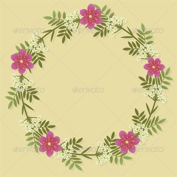 GraphicRiver Floral Wreath 4769509