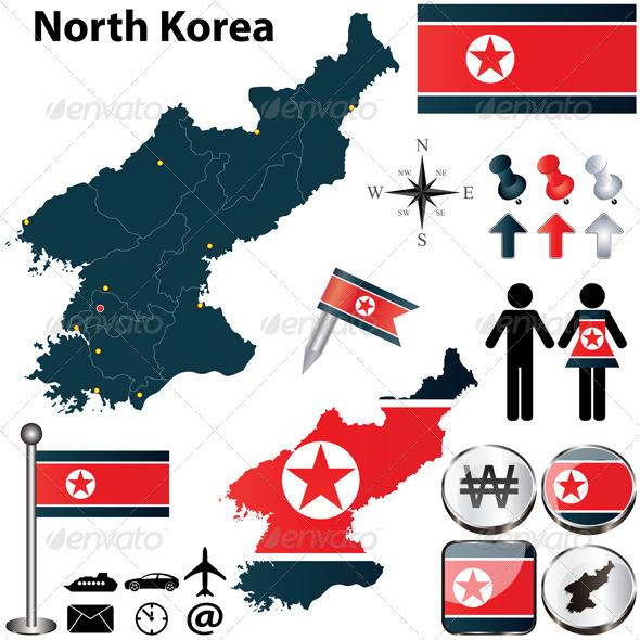 GraphicRiver Map of North Korea 4769516