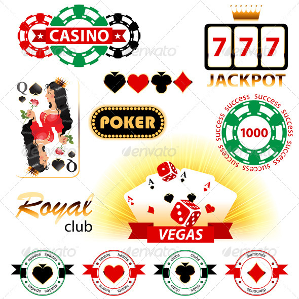 GraphicRiver Casino Signs and Emblems 4769920