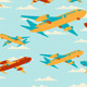 Retro Travel Seamless Patterns. - GraphicRiver Item for Sale