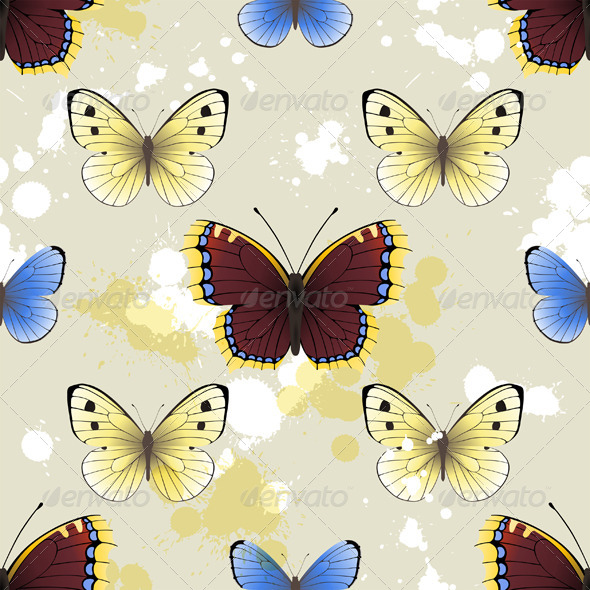 GraphicRiver Butterfly Seamless 4770049
