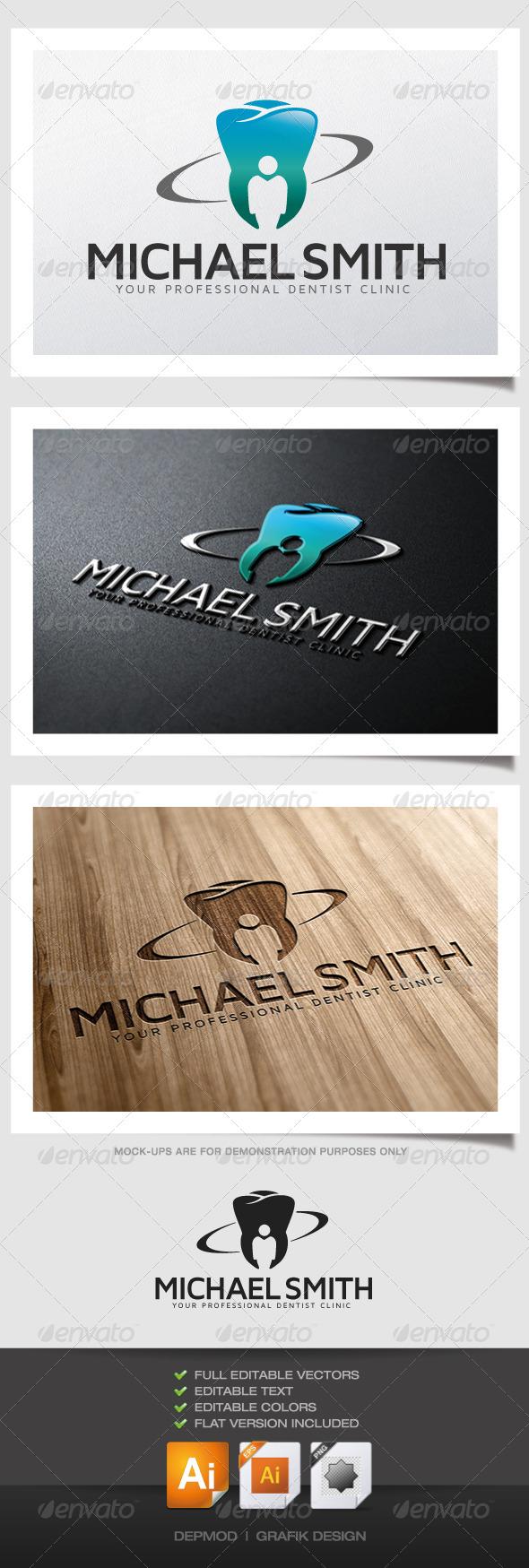 GraphicRiver Michael Smith Dentist Logo 4770075