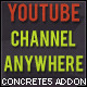 YouTube Channel Anywhere Concrete5  Add-On