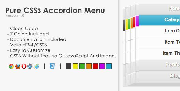 CodeCanyon Pure CSS3 Accordion Menu 4770502