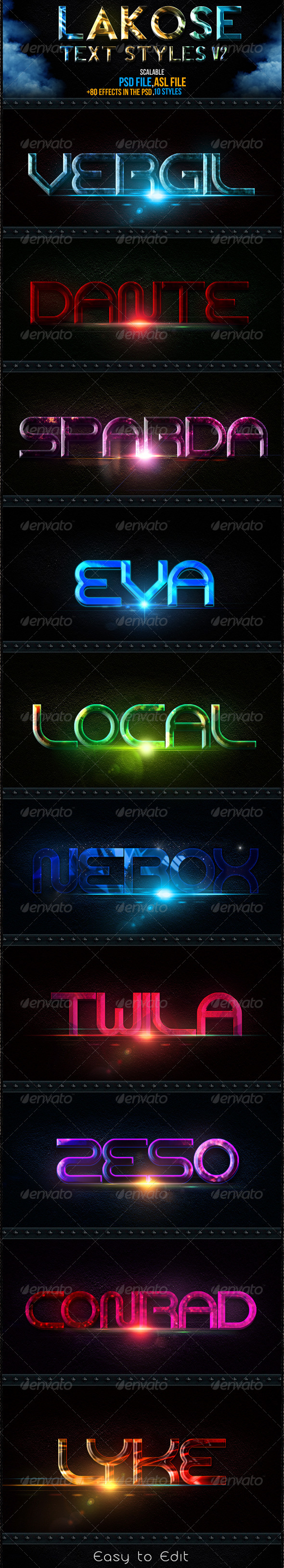 GraphicRiver Lakose Text Styles V2 4746978