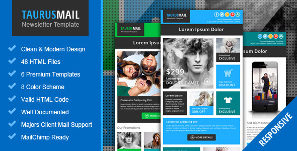 Taurus - Metro Responsive Email Newsletter Templat - Email Templates Marketing