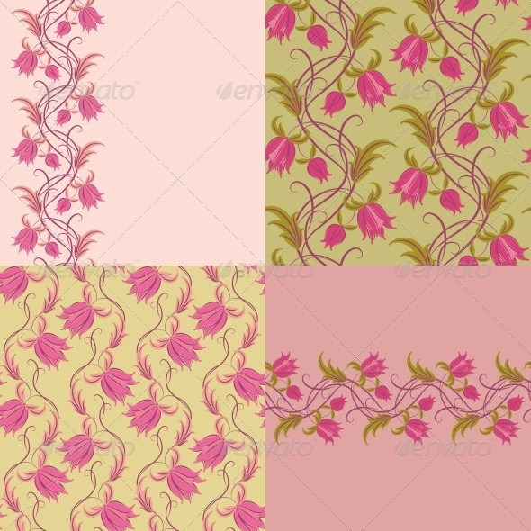 GraphicRiver Seamless Floral Pattern 4771821