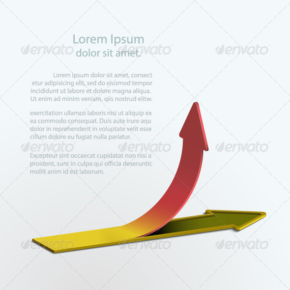 GraphicRiver Illustration of a Growing Up Arrow 4771963
