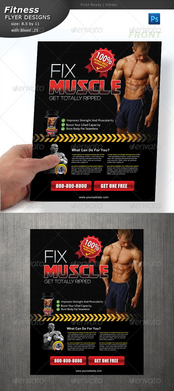 GraphicRiver Body Building Flyer 4691726