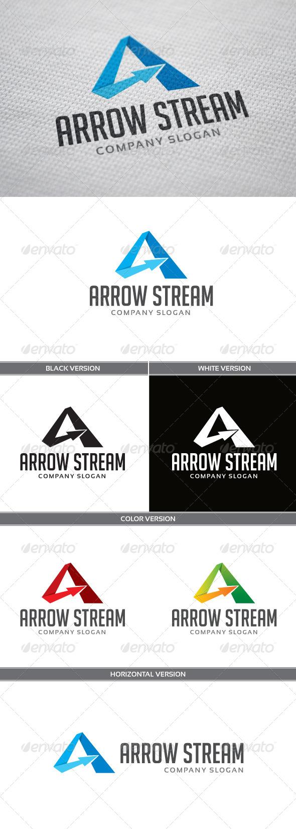 GraphicRiver Arrow Stream Logo 4772206