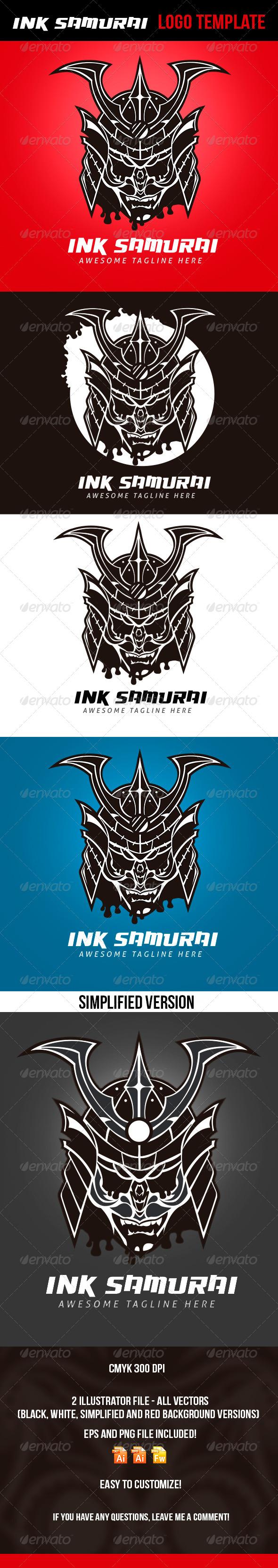 GraphicRiver Ink Samurai Logo Template 4592926
