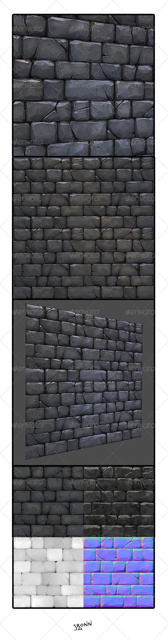 3DOcean Stone Wall Tile 02 4772689