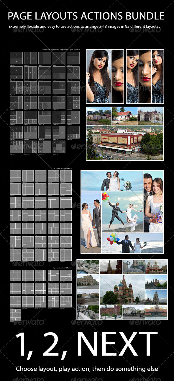 GraphicRiver Page Layouts Actions Bundle 4746785