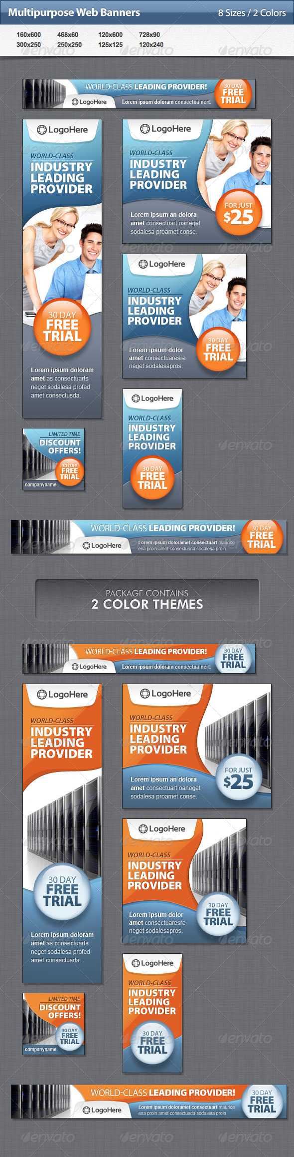 GraphicRiver Multipurpose Web Banners 4772739