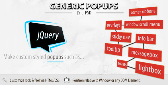 Generic Popups (jQuery) - CodeCanyon Item for Sale