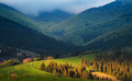 Spring cloudy morning in the Carpathian mountains - PhotoDune Item for Sale