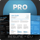 Pro Resume Set - GraphicRiver Item for Sale