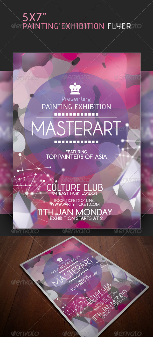 GraphicRiver Painting Exhibition Flyer 4706519
