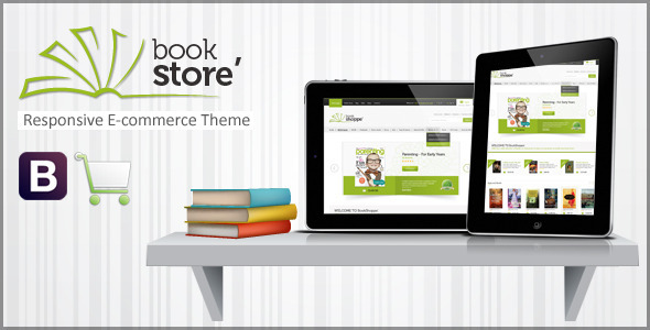 ThemeForest Book Store Responsive Ecommerce HTML5 Theme 4764351