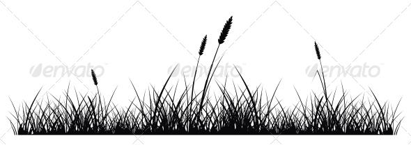 GraphicRiver Grass Silhouette 4776615