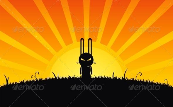 GraphicRiver Silhouette of Rabbit 4776854