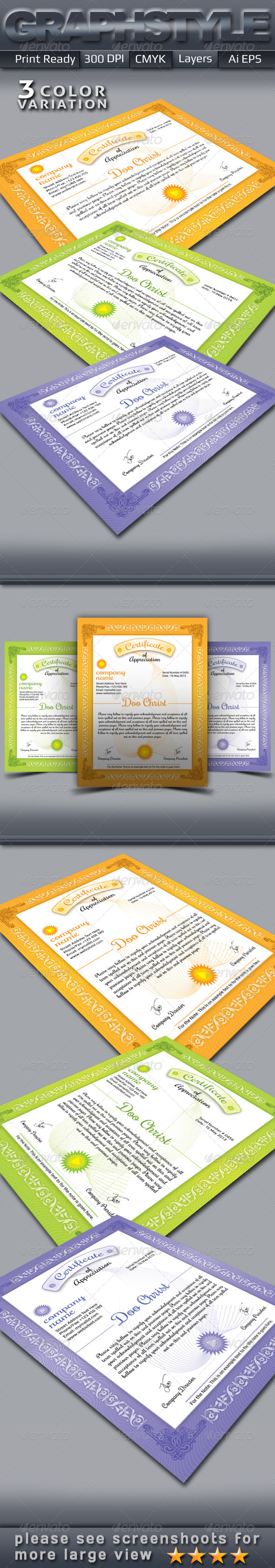GraphicRiver Certificate Templates 4702575