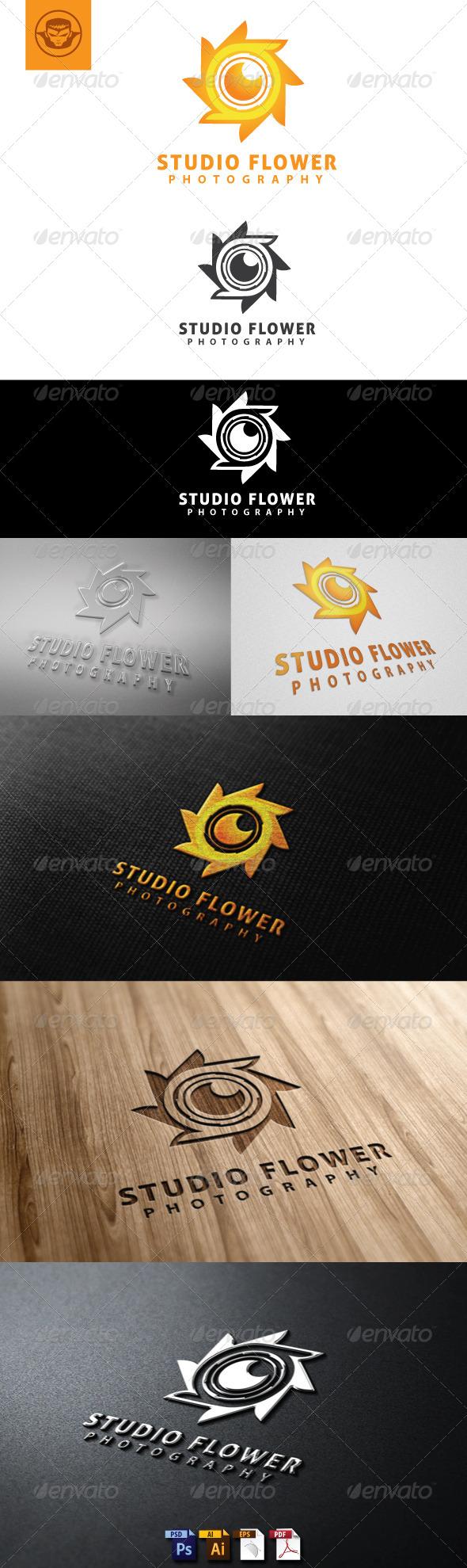Studio Flower Logo Template - Symbols Logo Templates