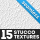 15 Seamless White Stucco Textures - GraphicRiver Item for Sale
