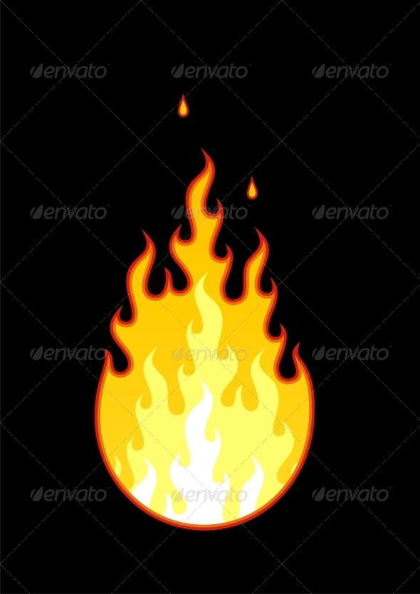GraphicRiver Vector Fire 4777033