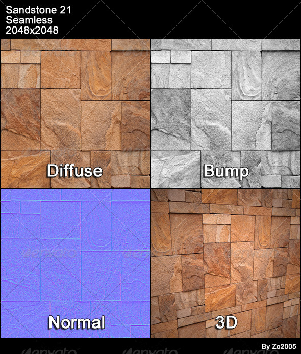 Sandstone Seamless Texture 21 - 3DOcean Item for Sale
