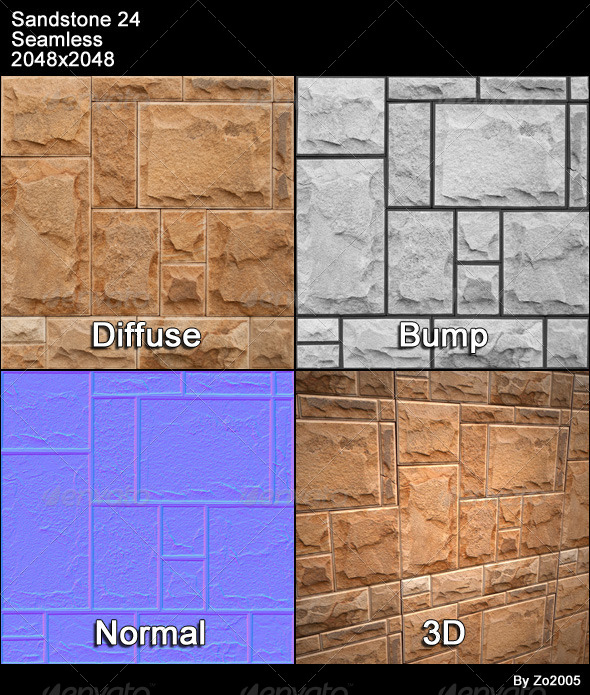 Sandstone Seamless Texture 24 - 3DOcean Item for Sale