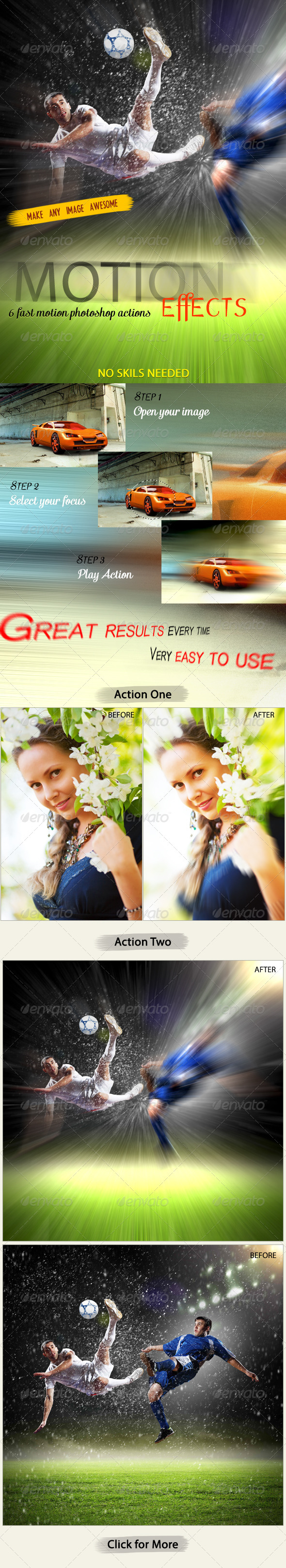 Fast Motion Effects (PS Actions) - Actions Photoshop
