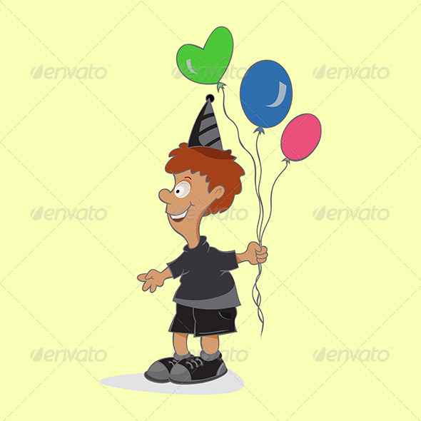 GraphicRiver Boy with Balloons 4777246