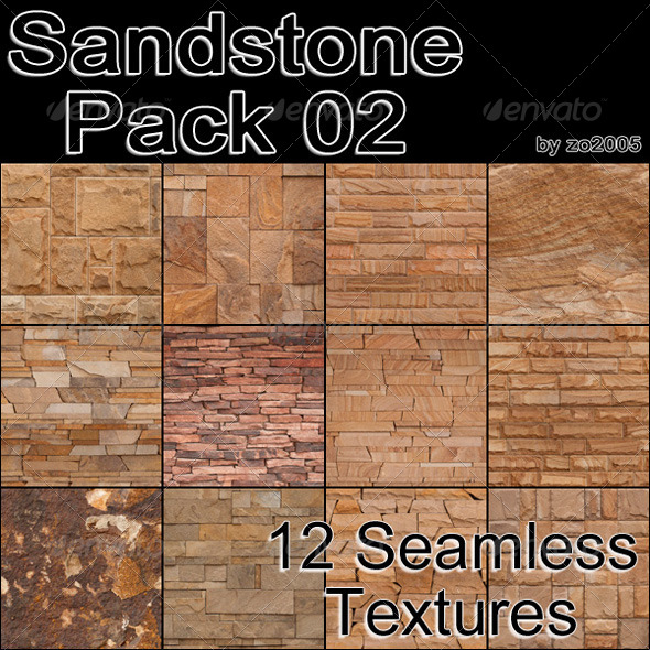 Sandstone Pack 02 - 3DOcean Item for Sale